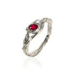 Tree of Life Ruby and Diamond Engagement Ring