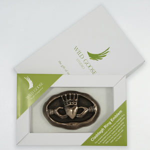 Claddagh Ring Emblem Boxed Wall Plaque