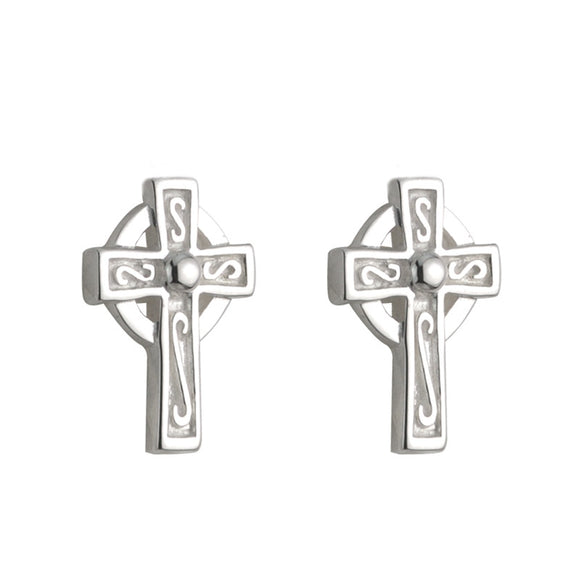 Celtic Cross Stud Earrings - Celtic Dawn - Jewellery Arts Crafts & Gifts  - 1
