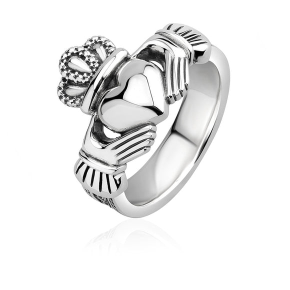 Heavy Triple Weave Claddagh Ring (Gents)