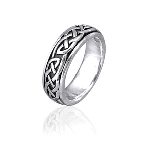 Knotwork Spinner Ring