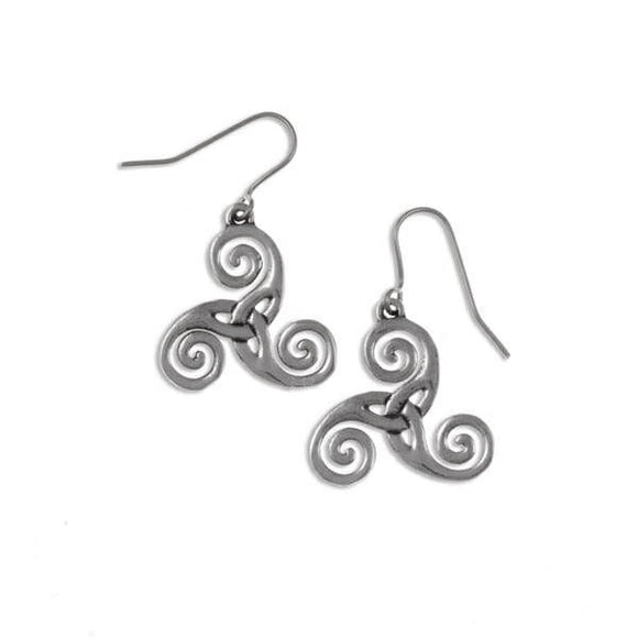 Triscele Triquetra Drop Earrings