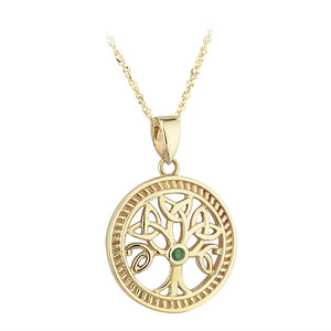 Emerald Tree of Life Pendant - Celtic Dawn - Jewellery Arts Crafts & Gifts  - 1