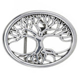 Open Tree of Life Belt Buckle
