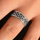 Triple Weave Open Knot Ring