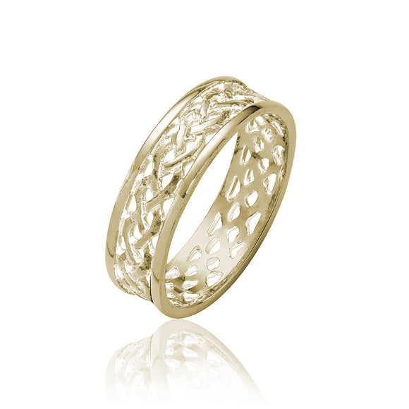 Triple Weave Open Knot Ring - Celtic Dawn - Jewellery Arts Crafts & Gifts - 1