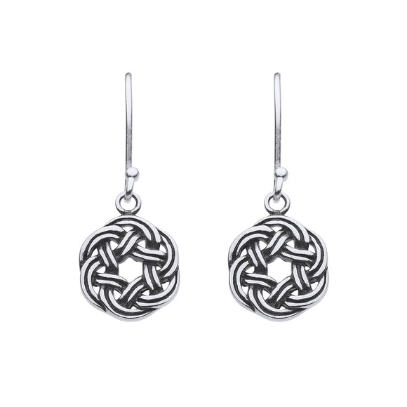 Open Wreath Knotwork Drop Earrings