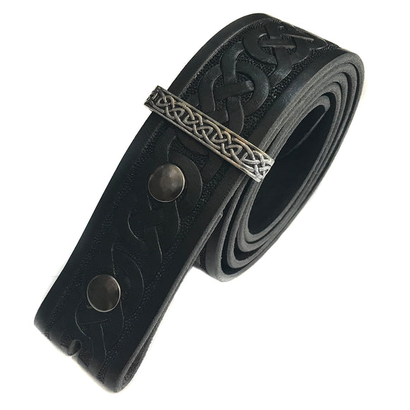Celtic Knotwork Leather Belt