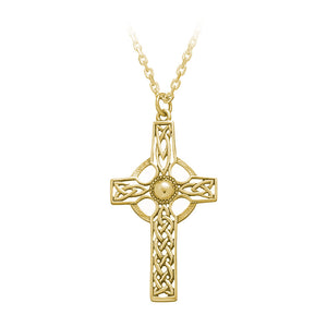 Open Knotwork Celtic Cross Pendant (Large) - Celtic Dawn - Jewellery Arts Crafts & Gifts  - 1