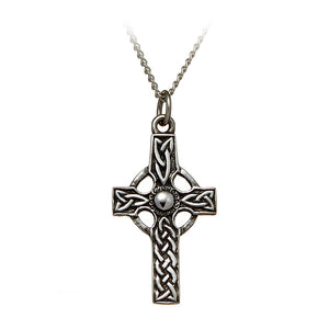 Solid Knotwork Celtic Cross Pendant - Celtic Dawn - Jewellery Arts Crafts & Gifts  - 1