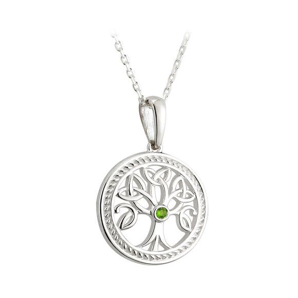 Peridot Tree of Life Pendant (Small) - Celtic Dawn - Jewellery Arts Crafts & Gifts  - 1