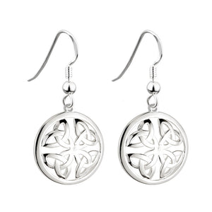 Round Triquetra Drop Earrings - Celtic Dawn - Jewellery Arts Crafts & Gifts  - 1