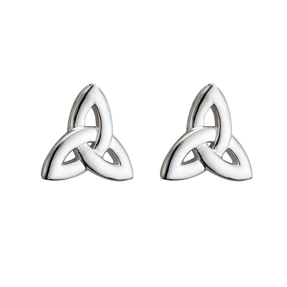 Triquetra Stud Earrings (Heavy) - Celtic Dawn - Jewellery Arts Crafts & Gifts  - 1