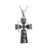 Marcasite Celtic Cross Pendant - Celtic Dawn - Jewellery Arts Crafts & Gifts  - 1