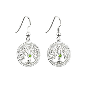 Peridot Tree of Life Drop Earrings - Celtic Dawn - Jewellery Arts Crafts & Gifts  - 1