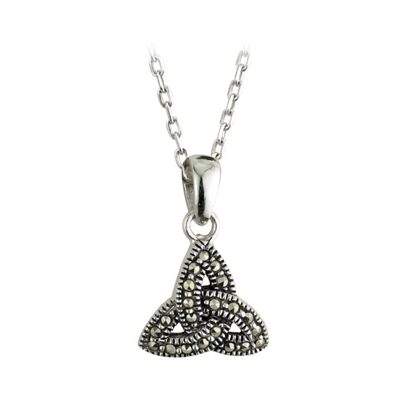 Marcasite Triquetra Pendant - Celtic Dawn - Jewellery Arts Crafts & Gifts  - 1