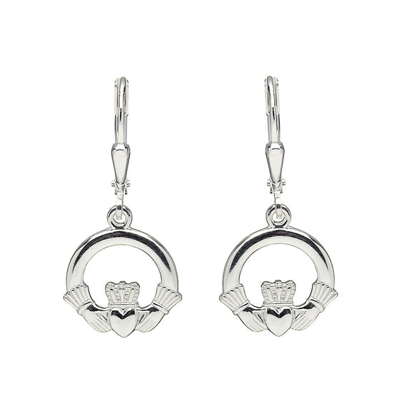 Claddagh Drop Earrings - Celtic Dawn - Jewellery Arts Crafts & Gifts  - 1