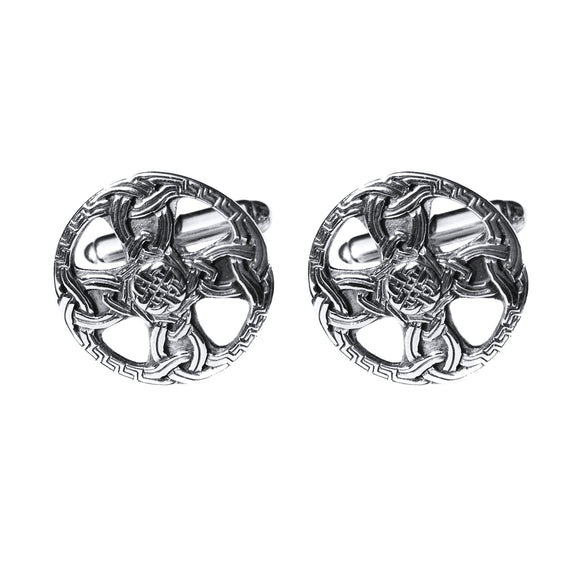 Celtic Cross Knotwork Cufflinks - Celtic Dawn - Jewellery Arts Crafts & Gifts  - 1