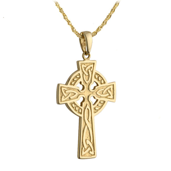 Traditional Celtic Cross Pendant (Double Sided)