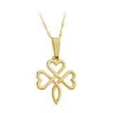 Open Knotwork Shamrock Pendant - Celtic Dawn - Jewellery Arts Crafts & Gifts  - 1