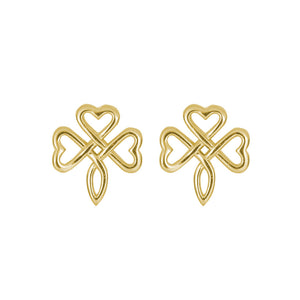 Open Knotwork Shamrock Stud Earrings - Celtic Dawn - Jewellery Arts Crafts & Gifts  - 1