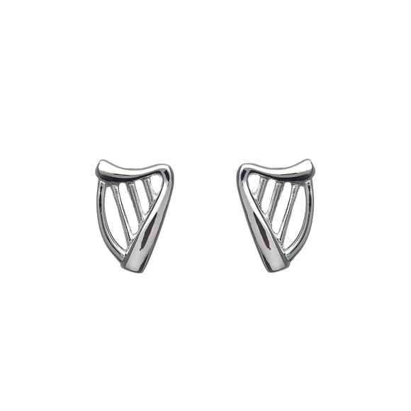Celtic Harp Stud Earrings