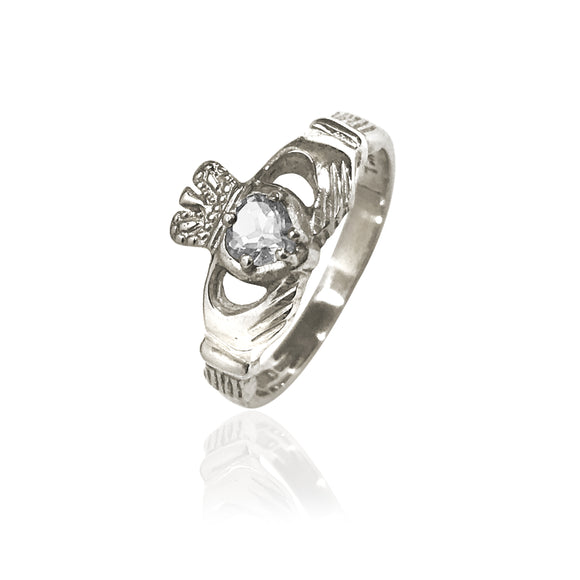 Traditional Diamond Claddagh Ring