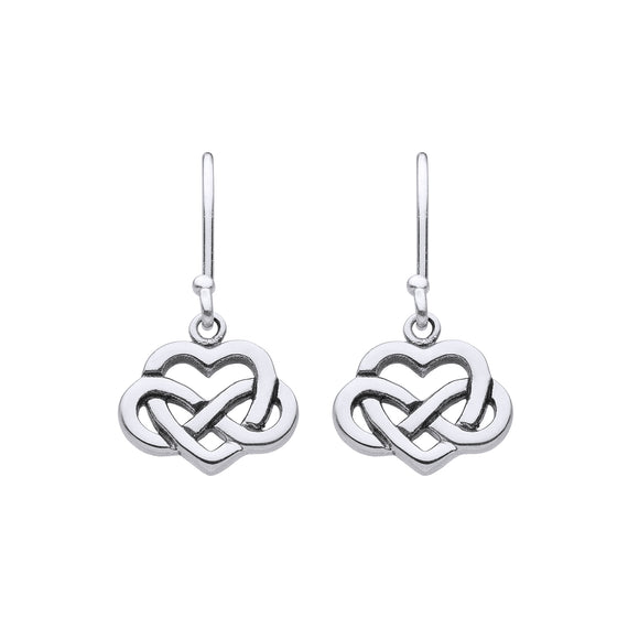 Infinity Love Knot Drop Earrings