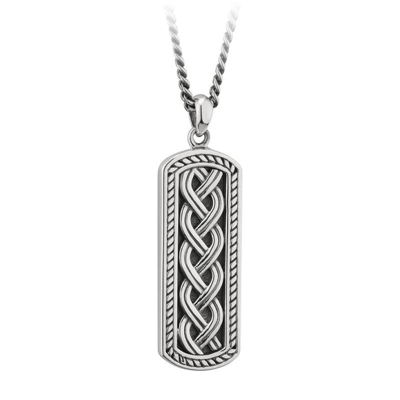 Triple Weave Solid Ingot Pendant (Gents)