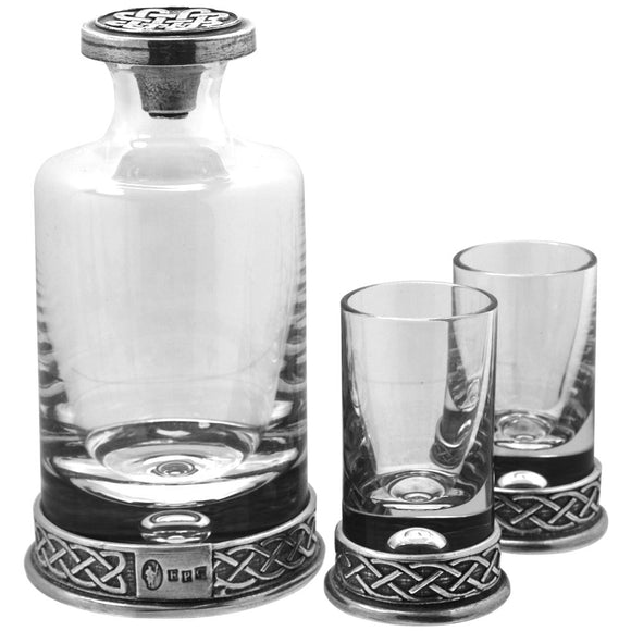 Knotwork Mini Decanter & Shot Glass Set