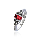 Ruby Triquetra Gemstone Ring
