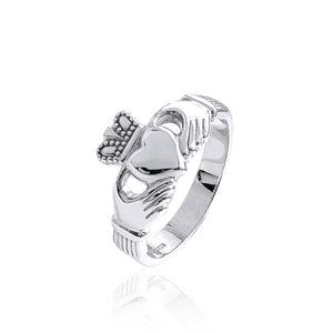 Traditional Claddagh Ring (Wide Band)