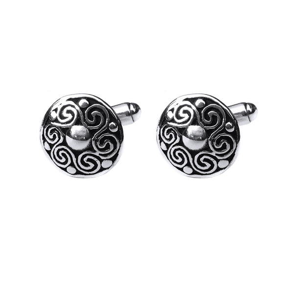 Spiral Cufflinks - Celtic Dawn - Jewellery Arts Crafts & Gifts  - 1