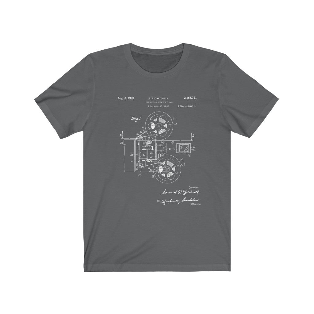 "Vintage 1939 ""Film Projector"" Patent Shirt"