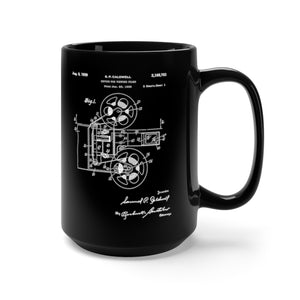 "Vintage 1939 ""Film Projector"" Patent Black Mug 15oz"