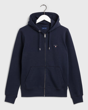GANT HERR The Orginal Full Zip Hoodie Evening Blue