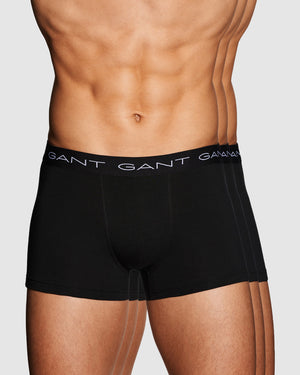 GANT HERR 3-Pack Trunk Kalsonger Black