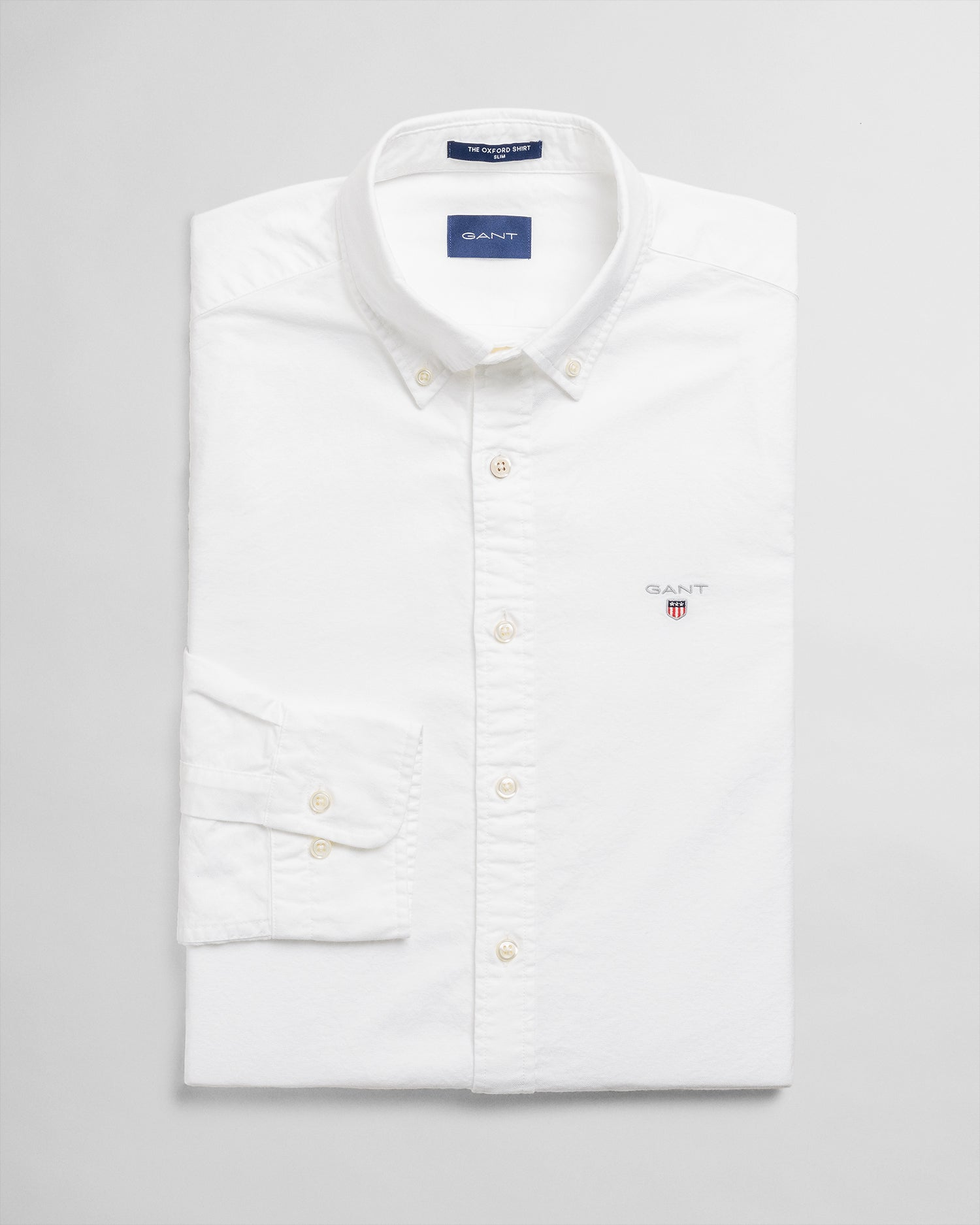 GANT Herr Oxford Skjorta Slim Fit White