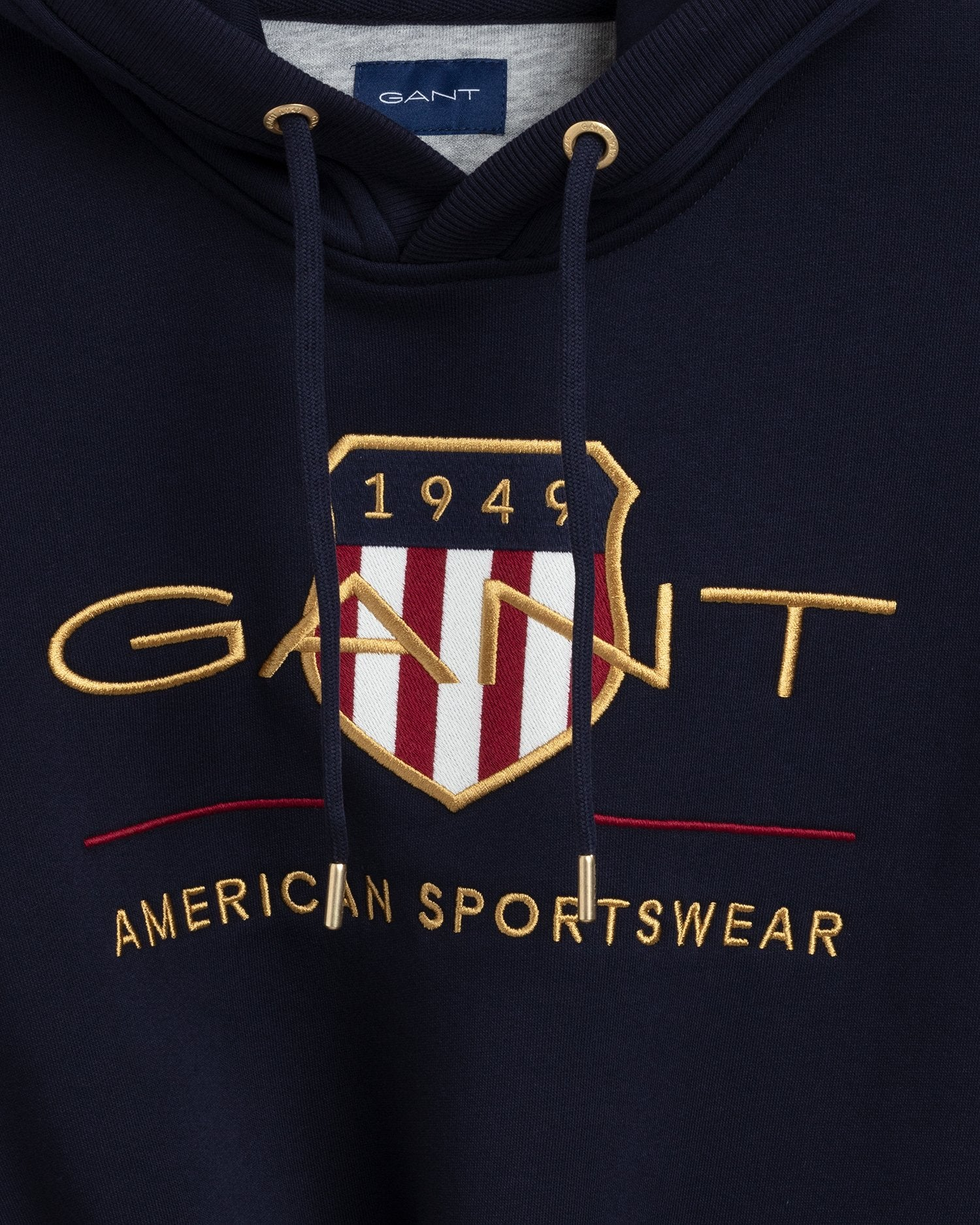 GANT HERR Archive Shield Hoodie Evening Blue