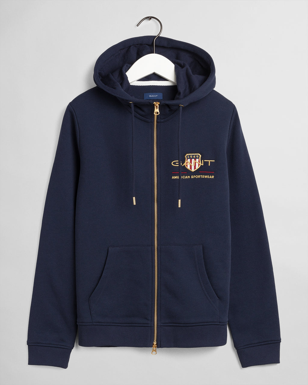 GANT DAM Archive Shield Zip Hoodie Evening Blue