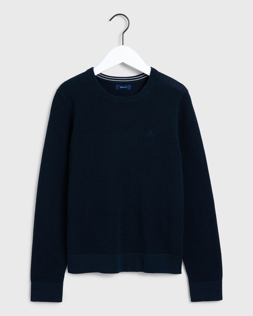 GANT DAM Cotton Pique Tröja Evening Blue