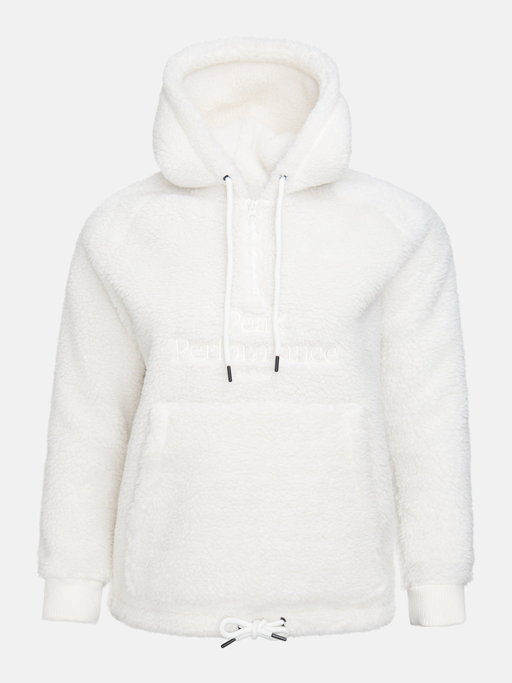 PEAK PERFORMANCE DAM Original Pile Zip Hoodie Offwhite