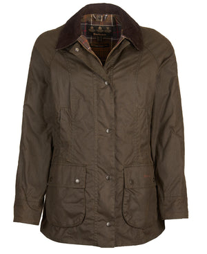 BARBOUR DAM Classic Beadnell Wax Jacket Green