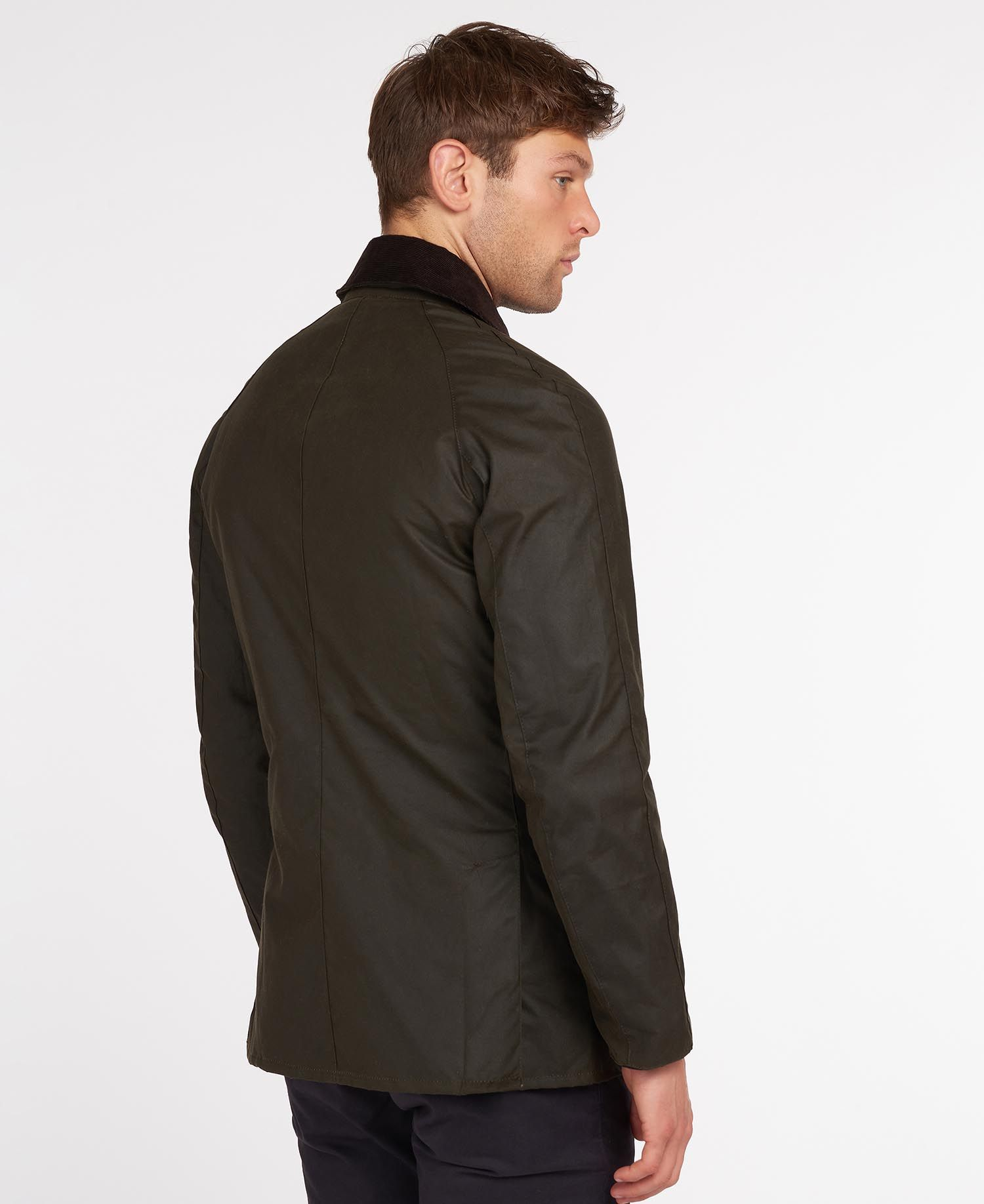 BARBOUR HERR Ashby Wax Jacket Olive