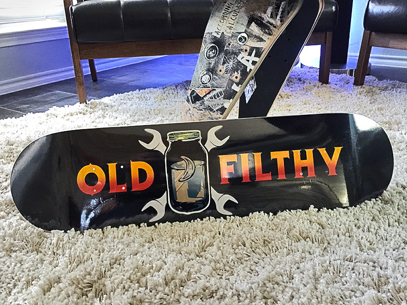 Old Filthy Skate Deck