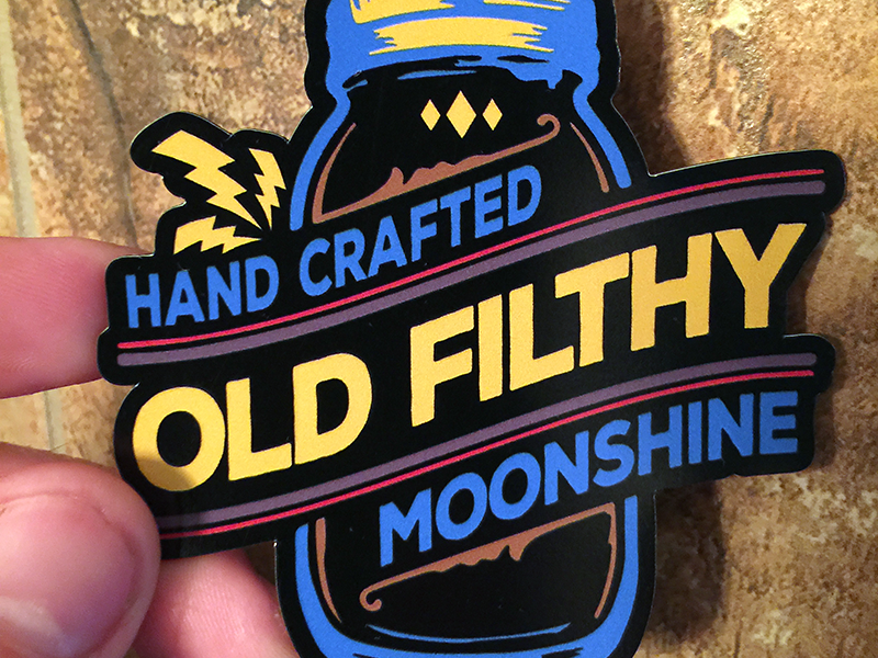 Moonshine Sticker