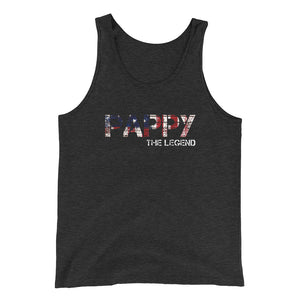 Awesome Father Day Pappy The Legend American Tank Top