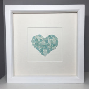 Sea Glass Sparkle Heart