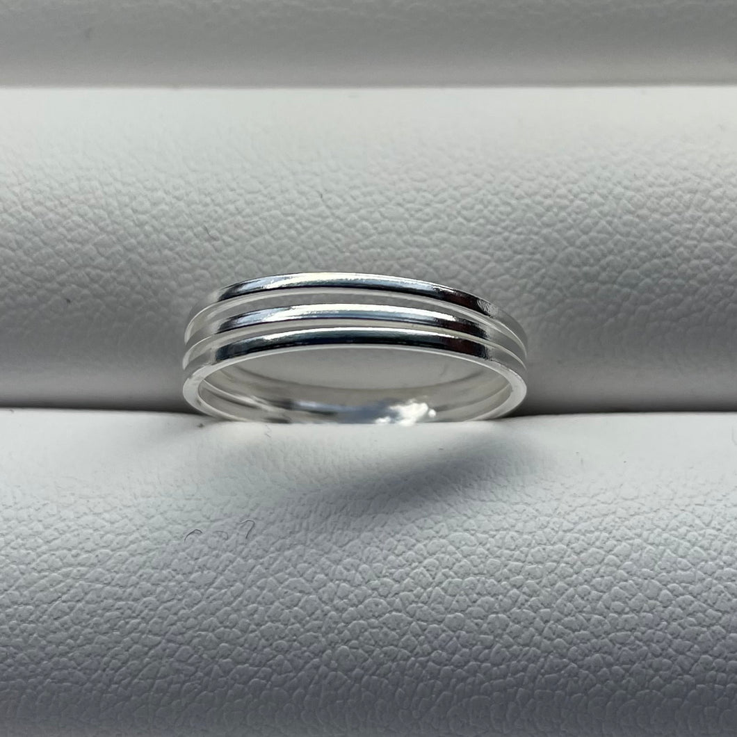 sterling silver ring split band