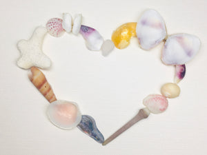 Sea Shell Sea Glass & Other Beach Treasures Heart